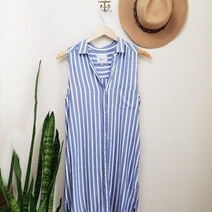Rails ivy shirt dress sleeveless striped XS